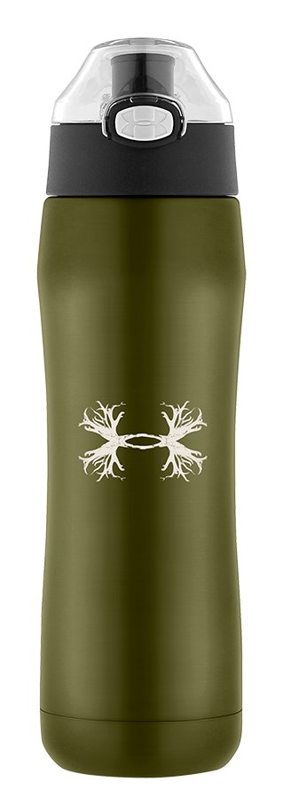 Beyond 18 oz. Vacuum Insulated Antler Logo Water Bottle, Rifle Green, undefined