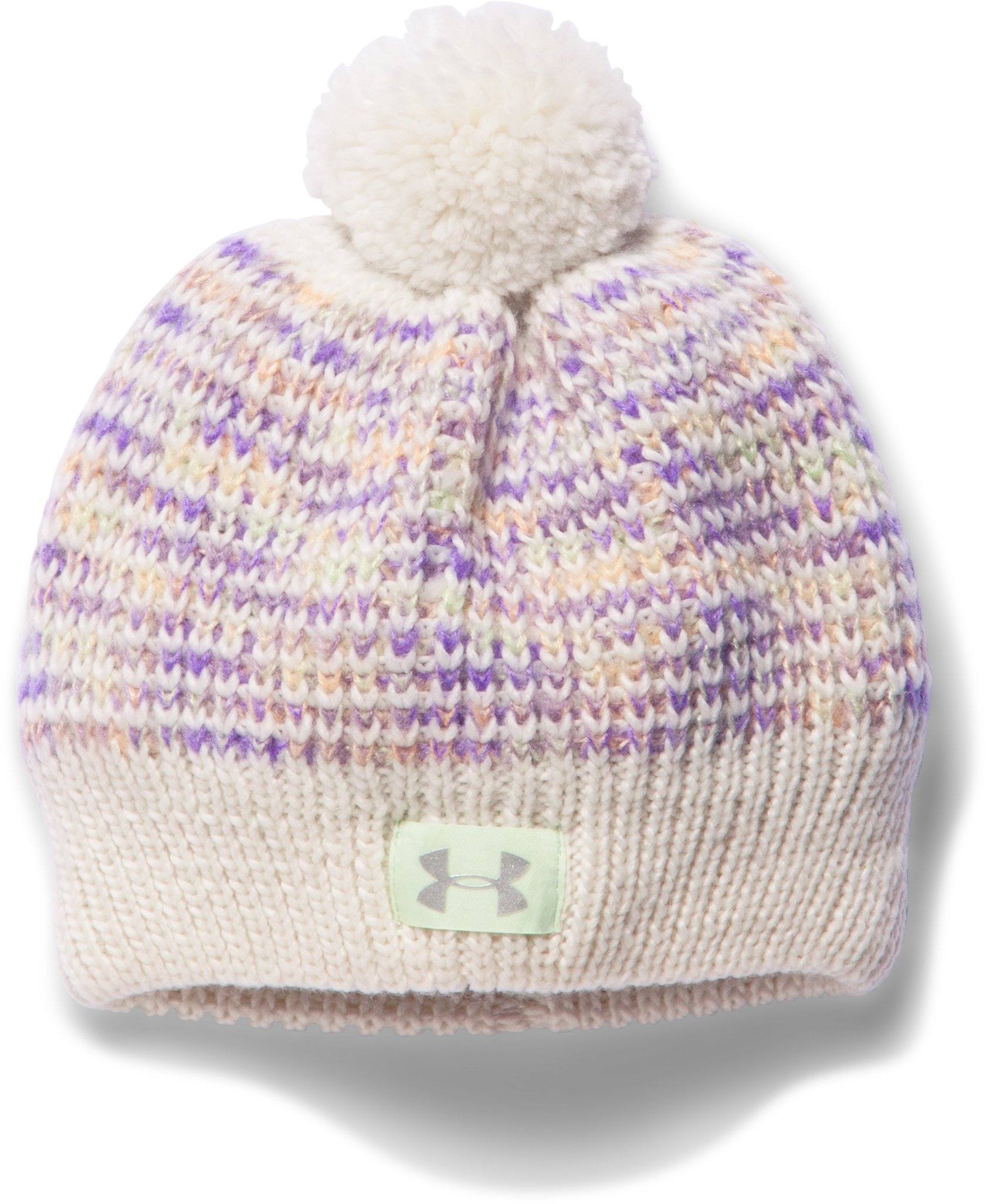 Girls' UA Speckle Beanie, TUFT WHITE, zoomed image