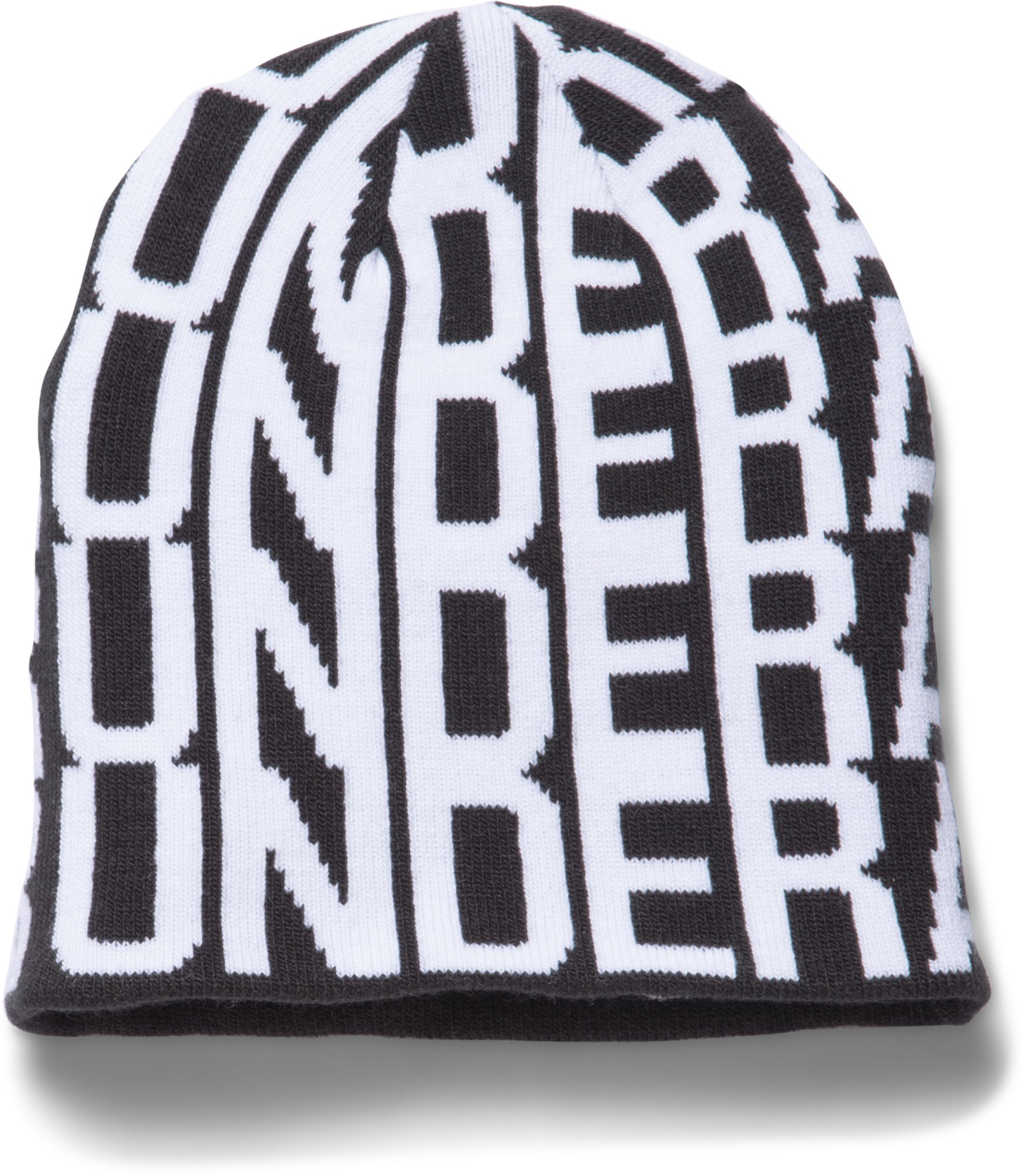 Girls' UA Glow Beanie, Black