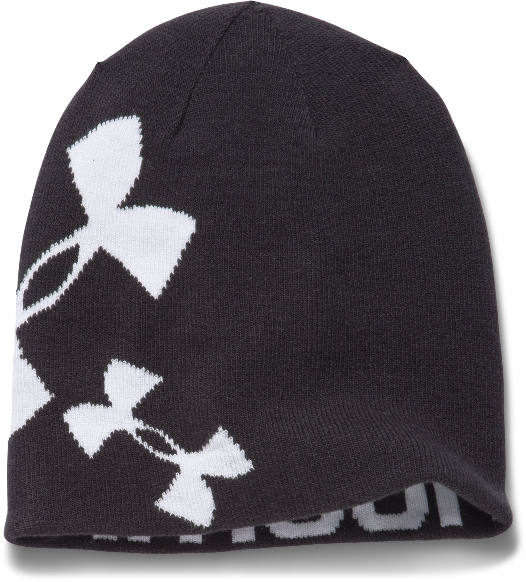Girls' UA Glow Beanie, Black , zoomed image