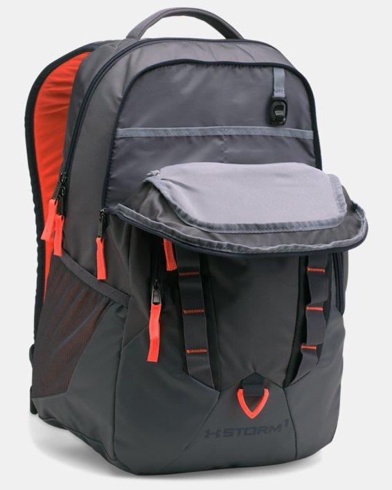 UA Storm Recruit Backpack, Gray, pdpMainDesktop image number 3