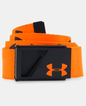 Boys' UA Range Webbed Belt LIMITED TIME: FREE U.S. SHIPPING 2 Colors $13.49 to $17.99