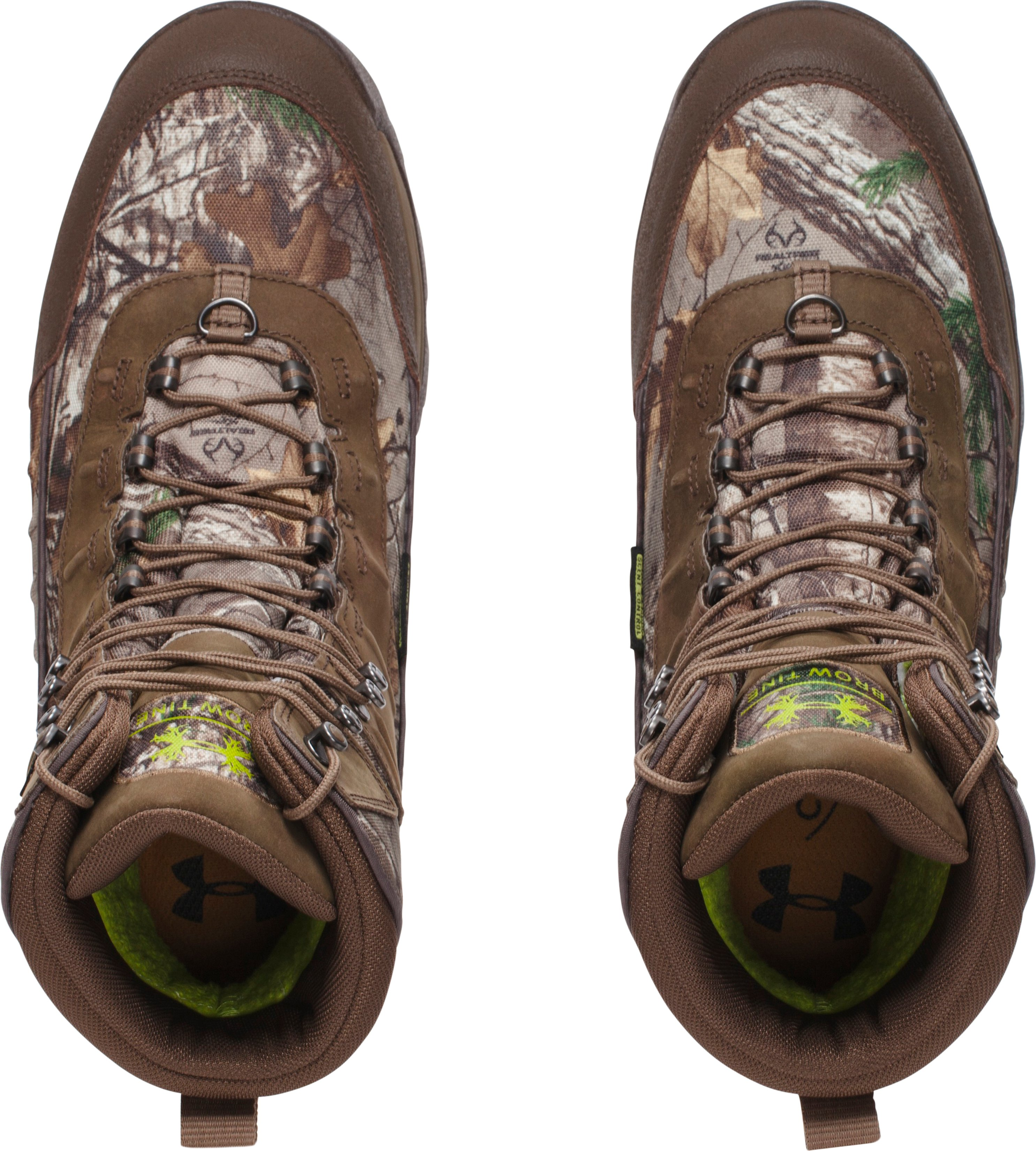 Men's UA Brow Tine 800 — Wide (2E) Hunting Boots, REALTREE AP-XTRA,