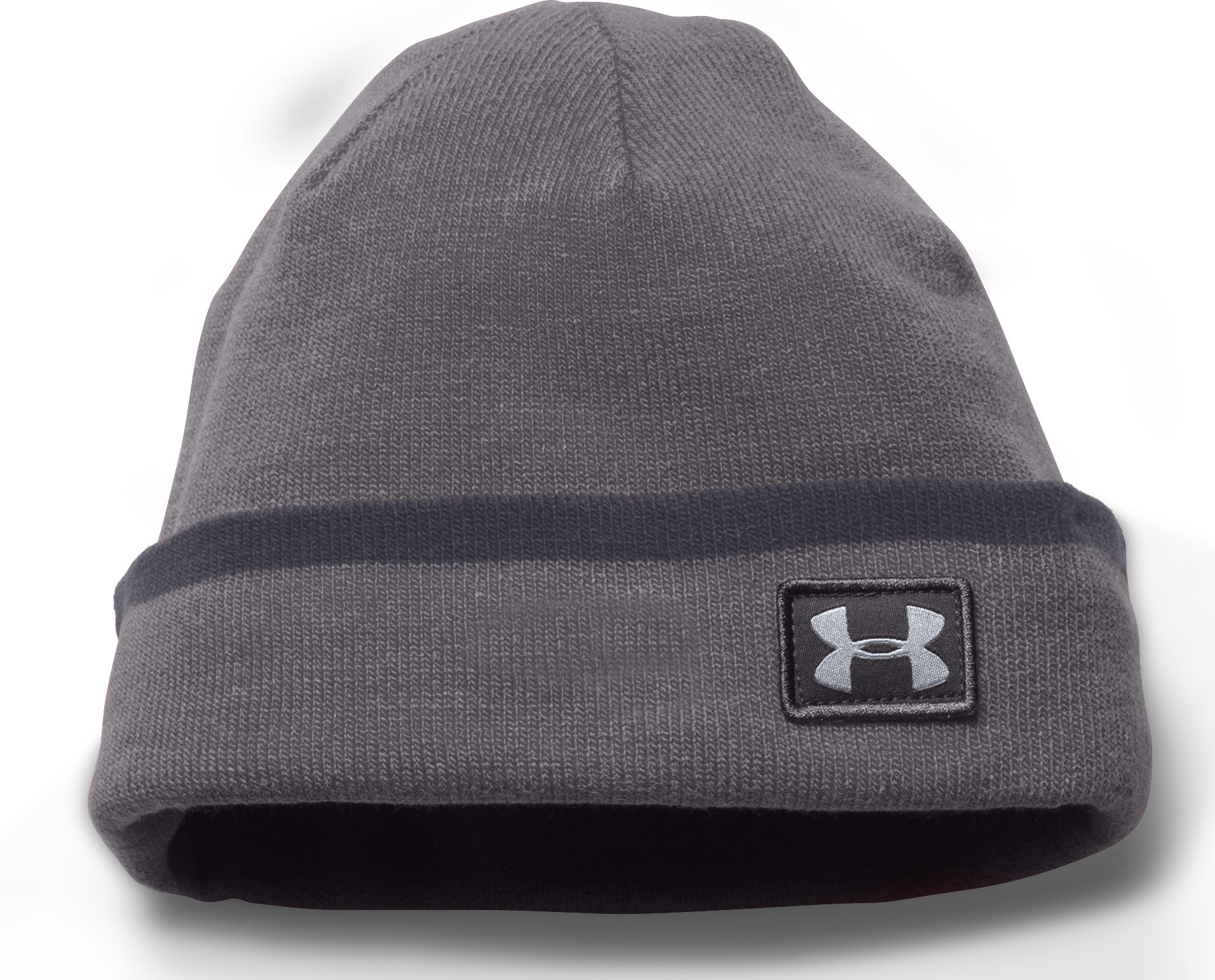 Men's UA ColdGear® Infrared Cuff Sideline Beanie, Graphite, zoomed image