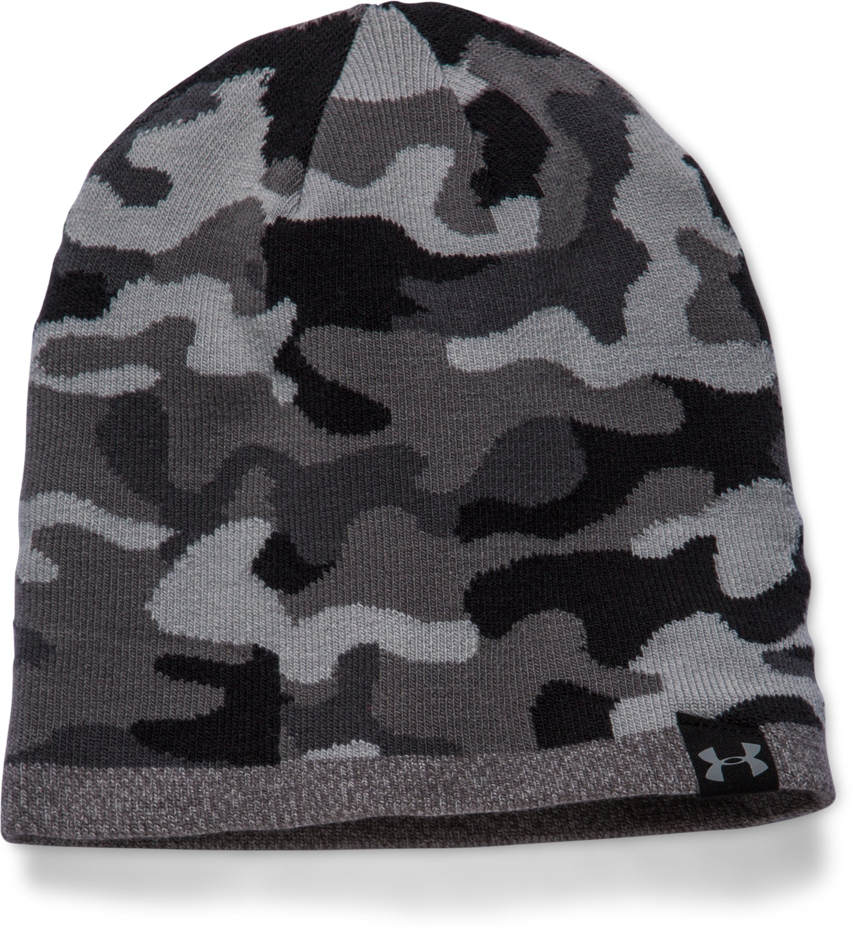 Men's UA 2-Way Camo Beanie, Steel, undefined