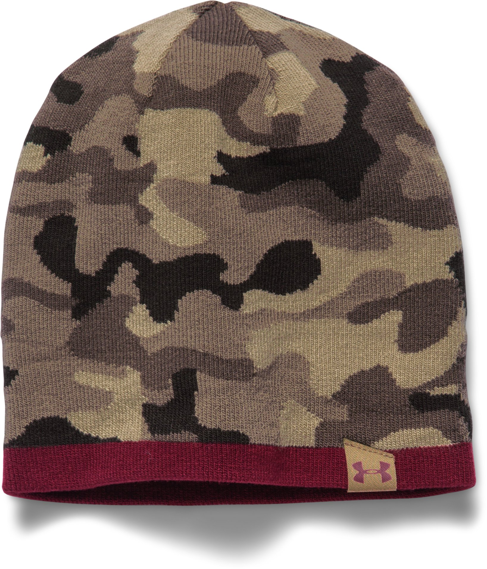 Men's UA 2-Way Camo Beanie, Canvas, zoomed image