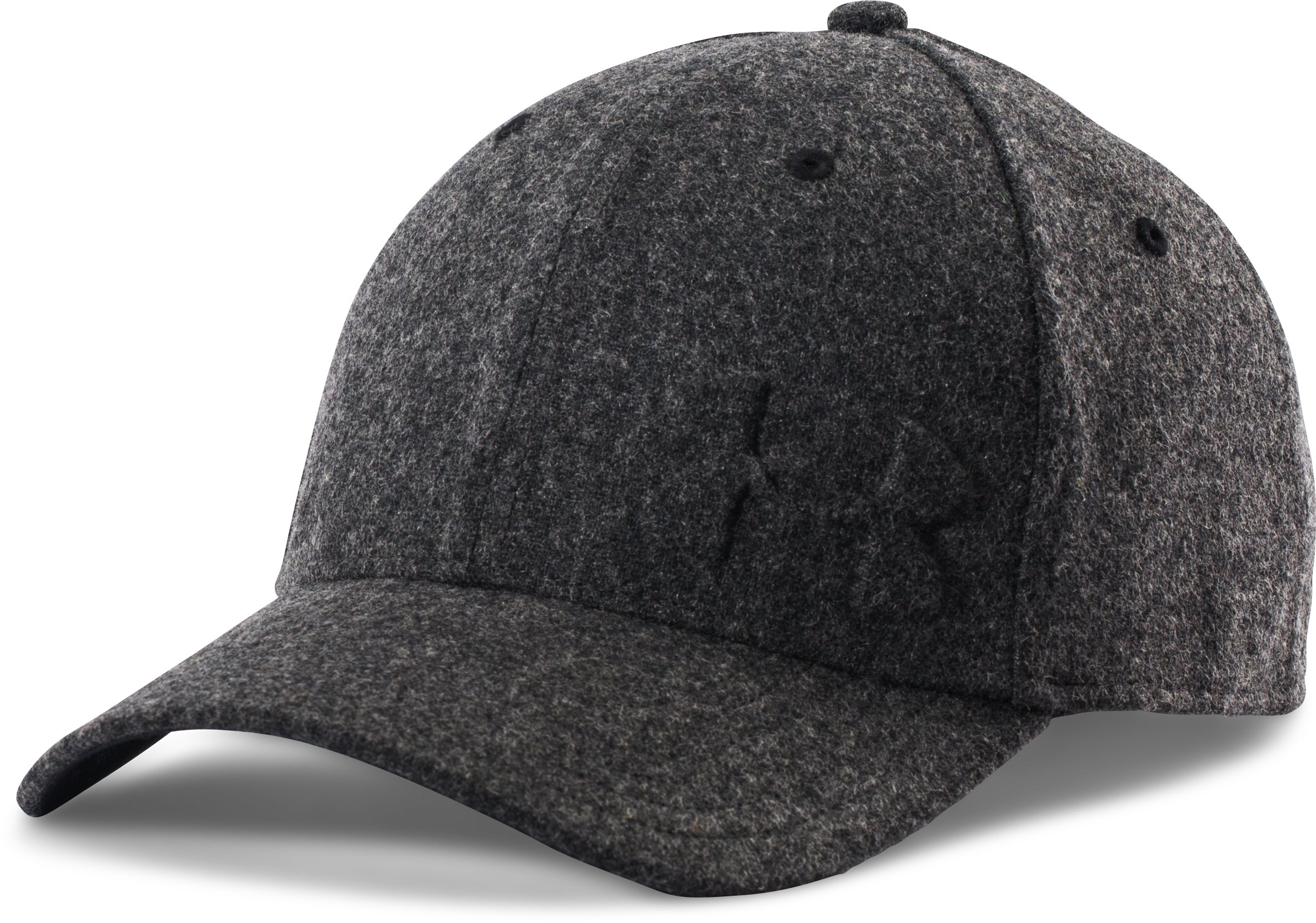 Men's UA Wool Low Crown Cap, Black ,
