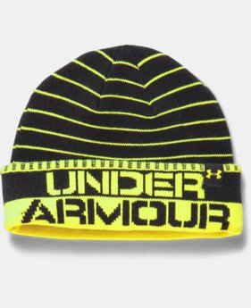 Boys' UA Chillz Stripe Beanie  4 Colors $16.99
