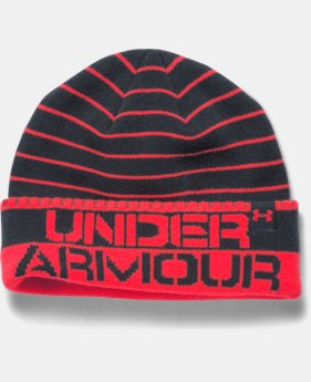 Boys' UA Chillz Stripe Beanie  1 Color $16.99