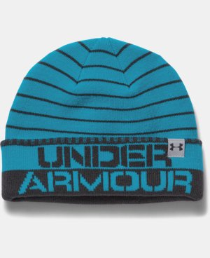 Boys' UA Cuff Stripe Beanie LIMITED TIME: FREE U.S. SHIPPING 1 Color $21.99