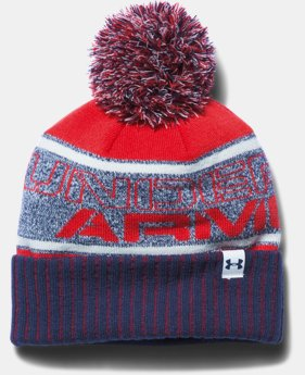 Boys' UA Pom Beanie LIMITED TIME: FREE U.S. SHIPPING 1 Color $24.99