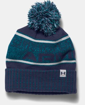 New to Outlet Boys' UA Pom Beanie  1 Color $18.99
