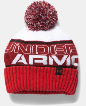 Boys' UA Pom Beanie LIMITED TIME: FREE U.S. SHIPPING 5 Colors $11.99 to $15.99