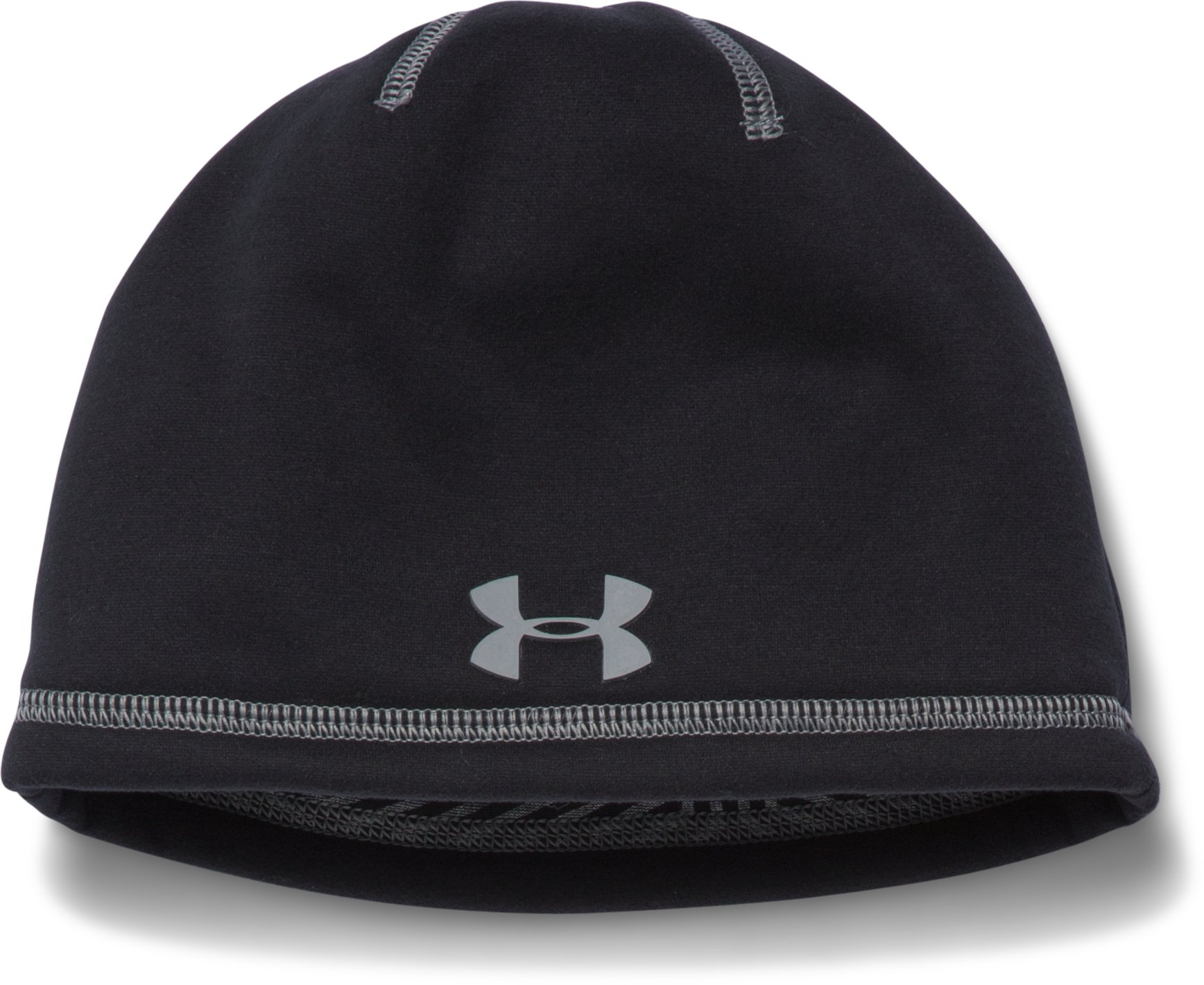 Boys' UA Elements 2.0 Beanie, Black , zoomed image
