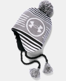 New Arrival  Boys' UA Tassle Beanie  2 Colors $29.99