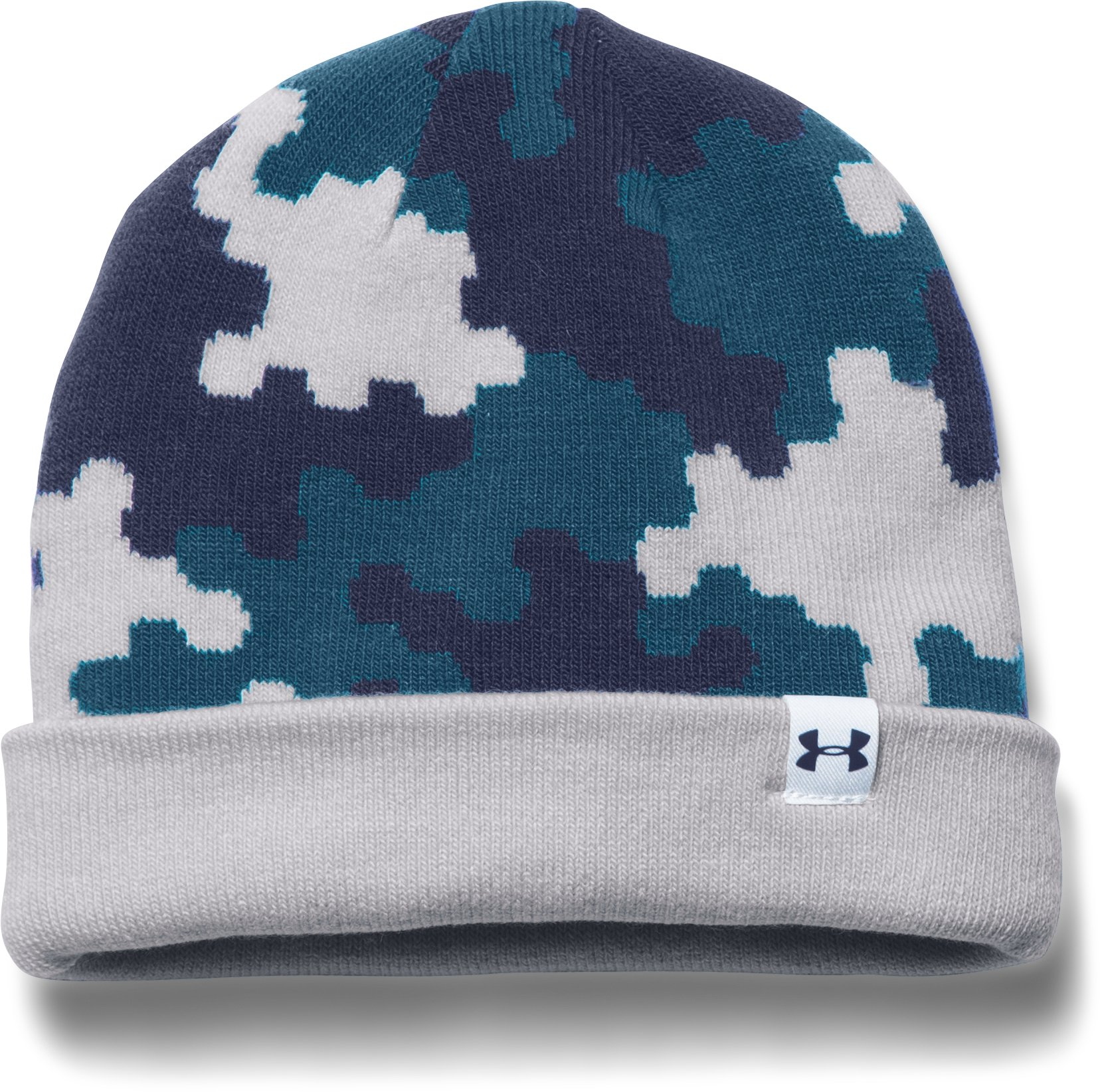 Boys' UA 4-in-1 Graphic Beanie, GLACIER GRAY, zoomed image