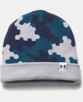 Boys' UA 4-in-1 Graphic Beanie LIMITED TIME: FREE SHIPPING 2 Colors $22.99