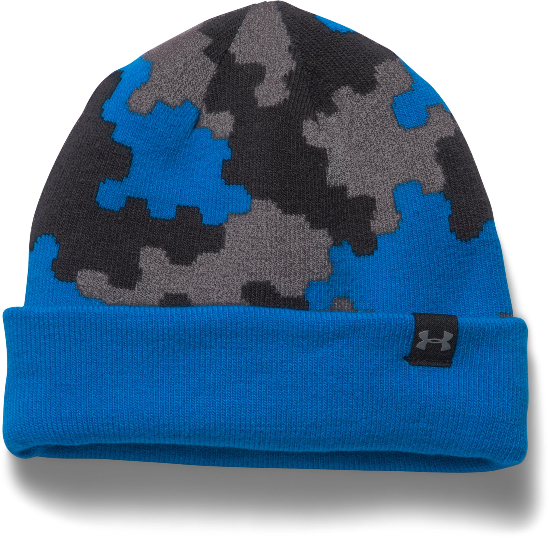 Boys' UA 4-in-1 Graphic Beanie, BLUE JET