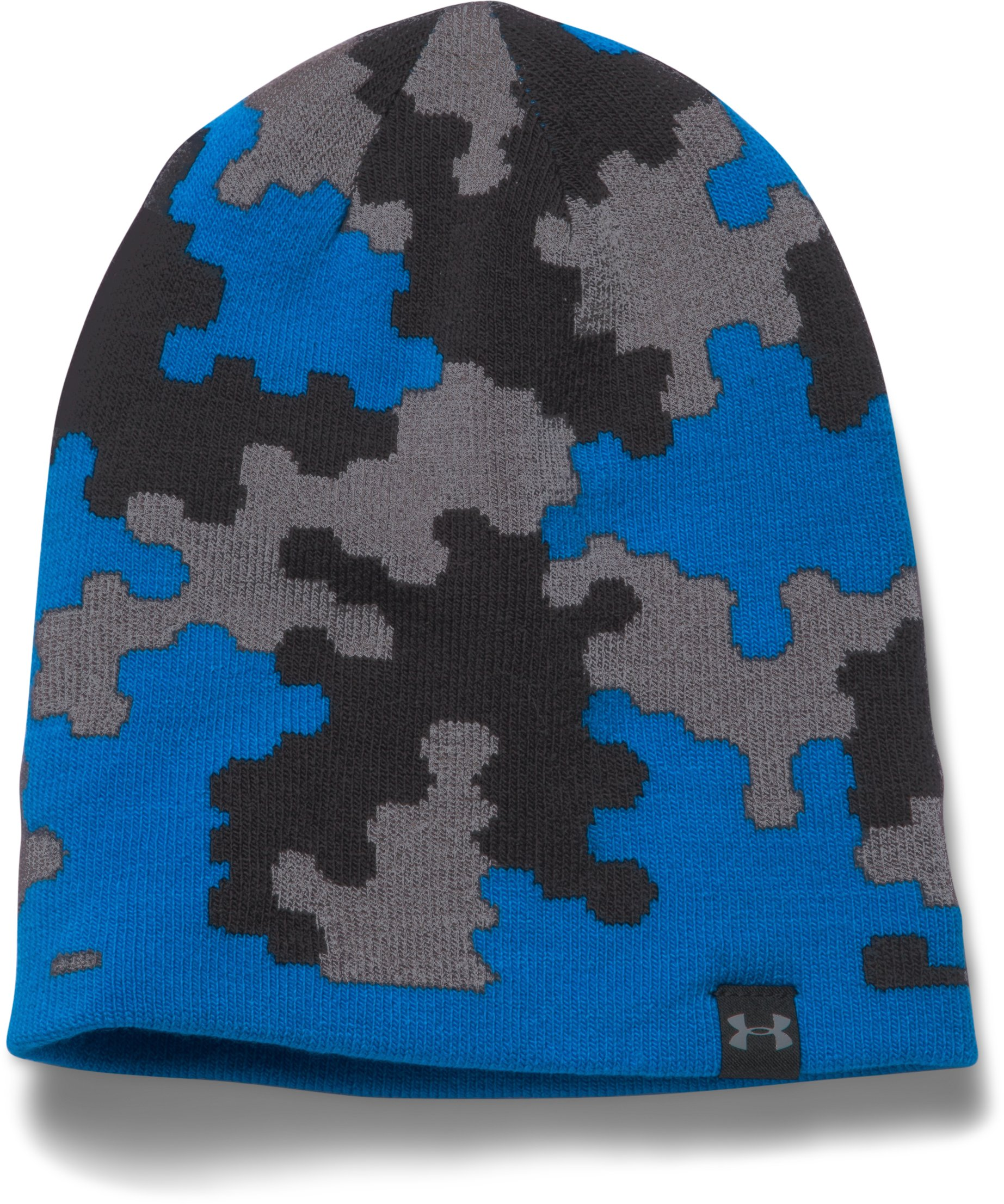 Boys' UA 4-in-1 Graphic Beanie, BLUE JET,