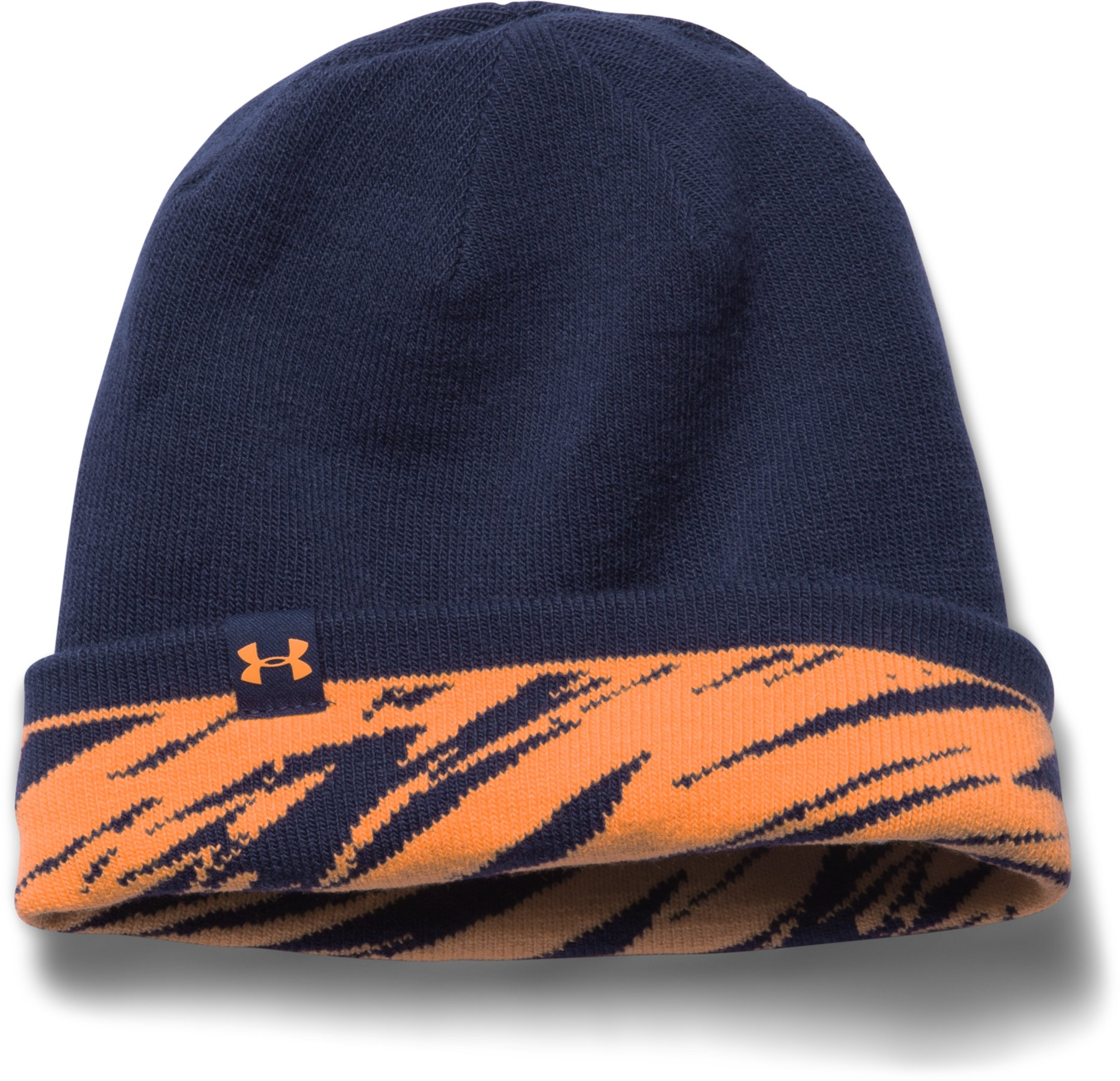 Boys' UA 4-in-1 Graphic Beanie, CITRUS BLAST, undefined