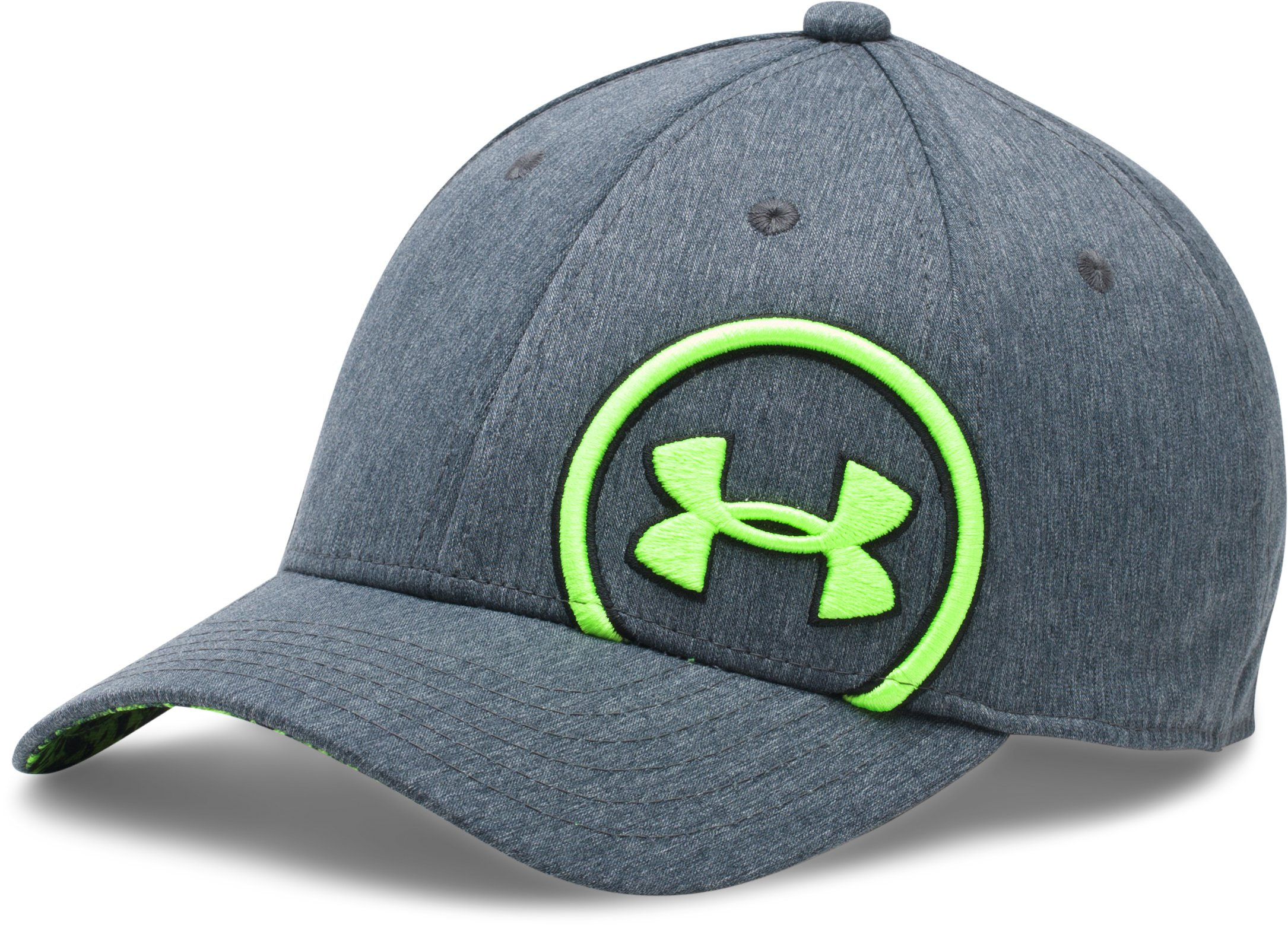 Boys' UA Big Logo Update Cap, STEALTH GRAY