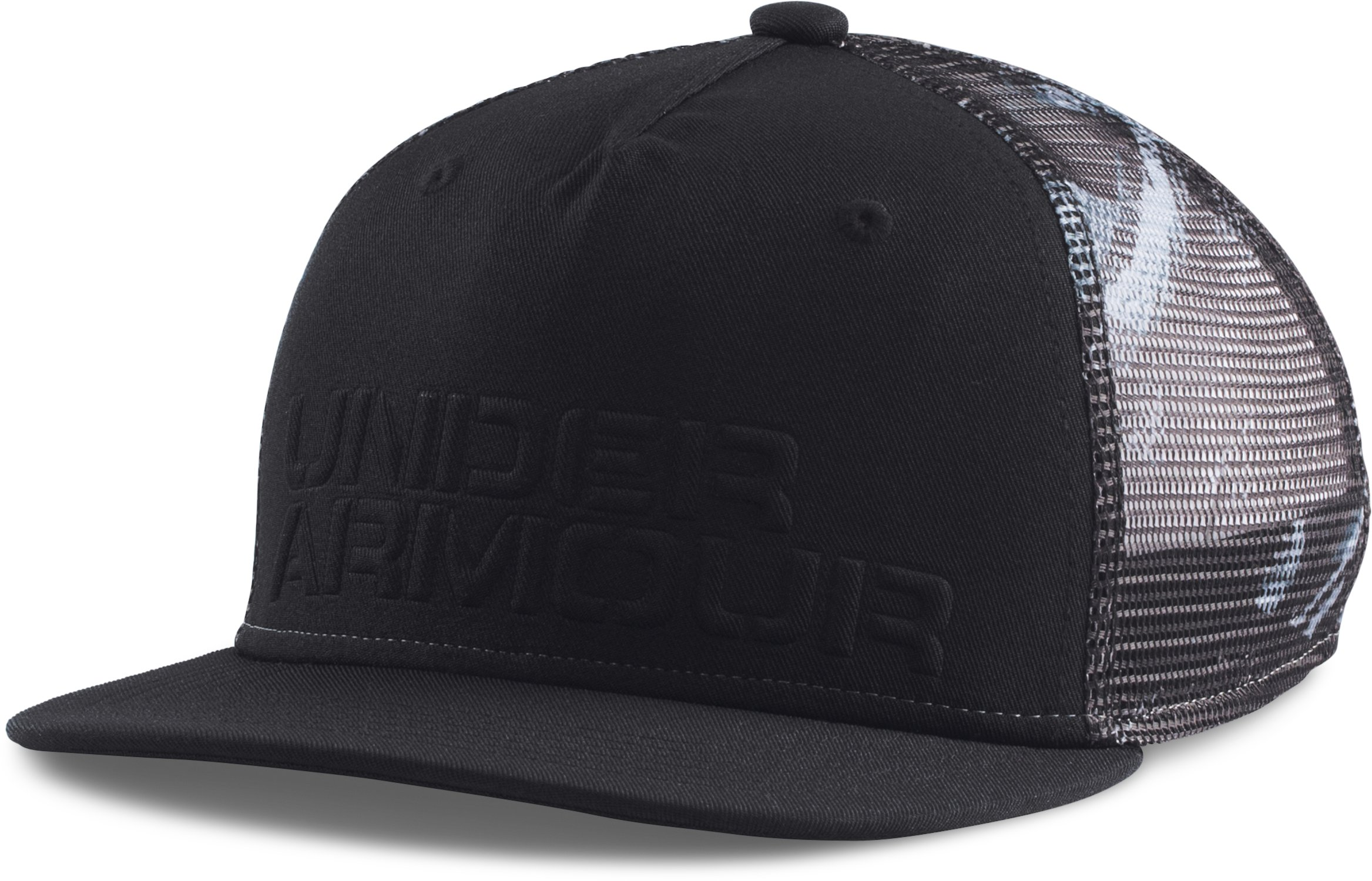 Boys' UA Trucker Mesh Snap Back Cap, Black , zoomed image