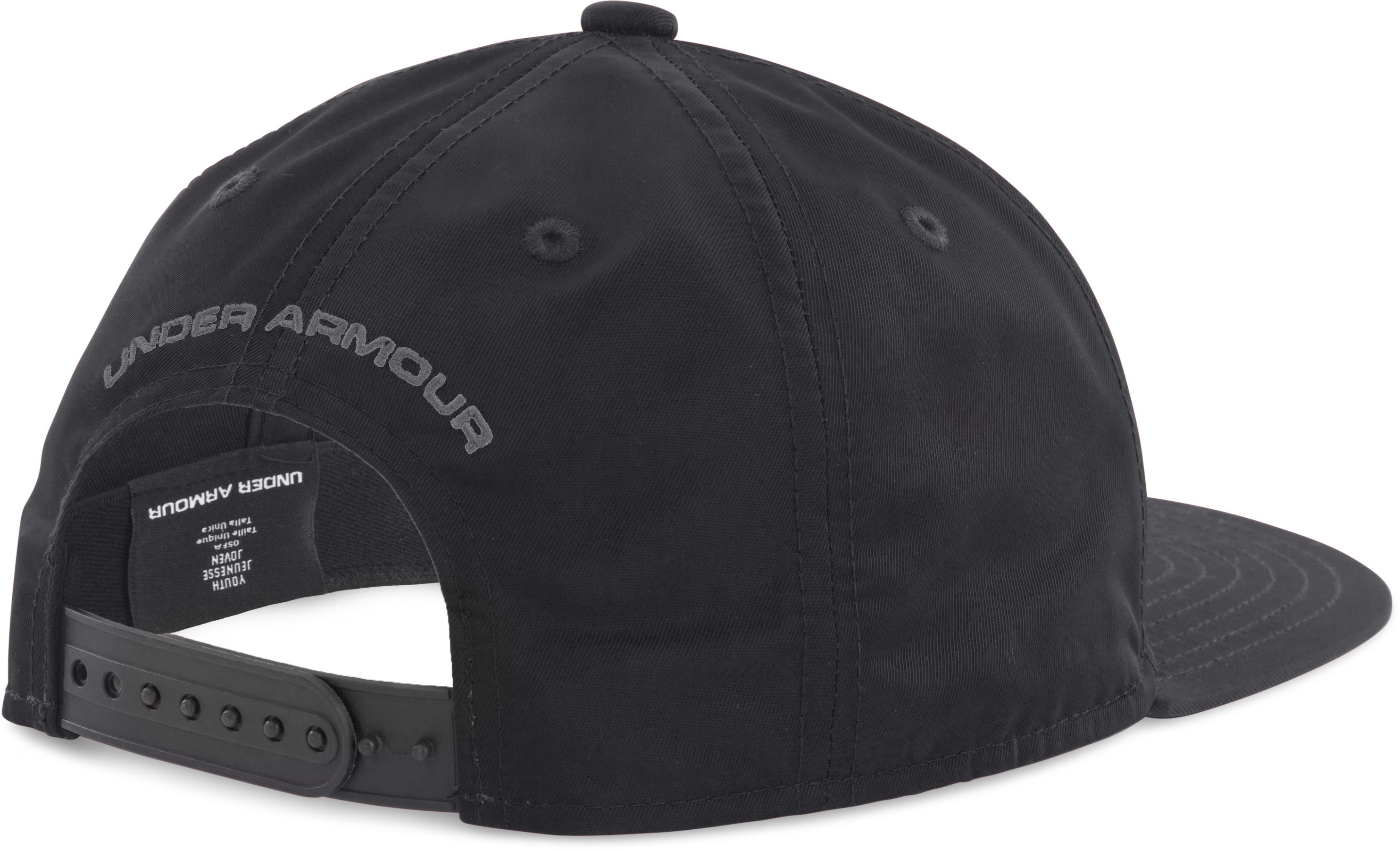 Boys' UA Huddle 2.0 Snapback Cap, Black