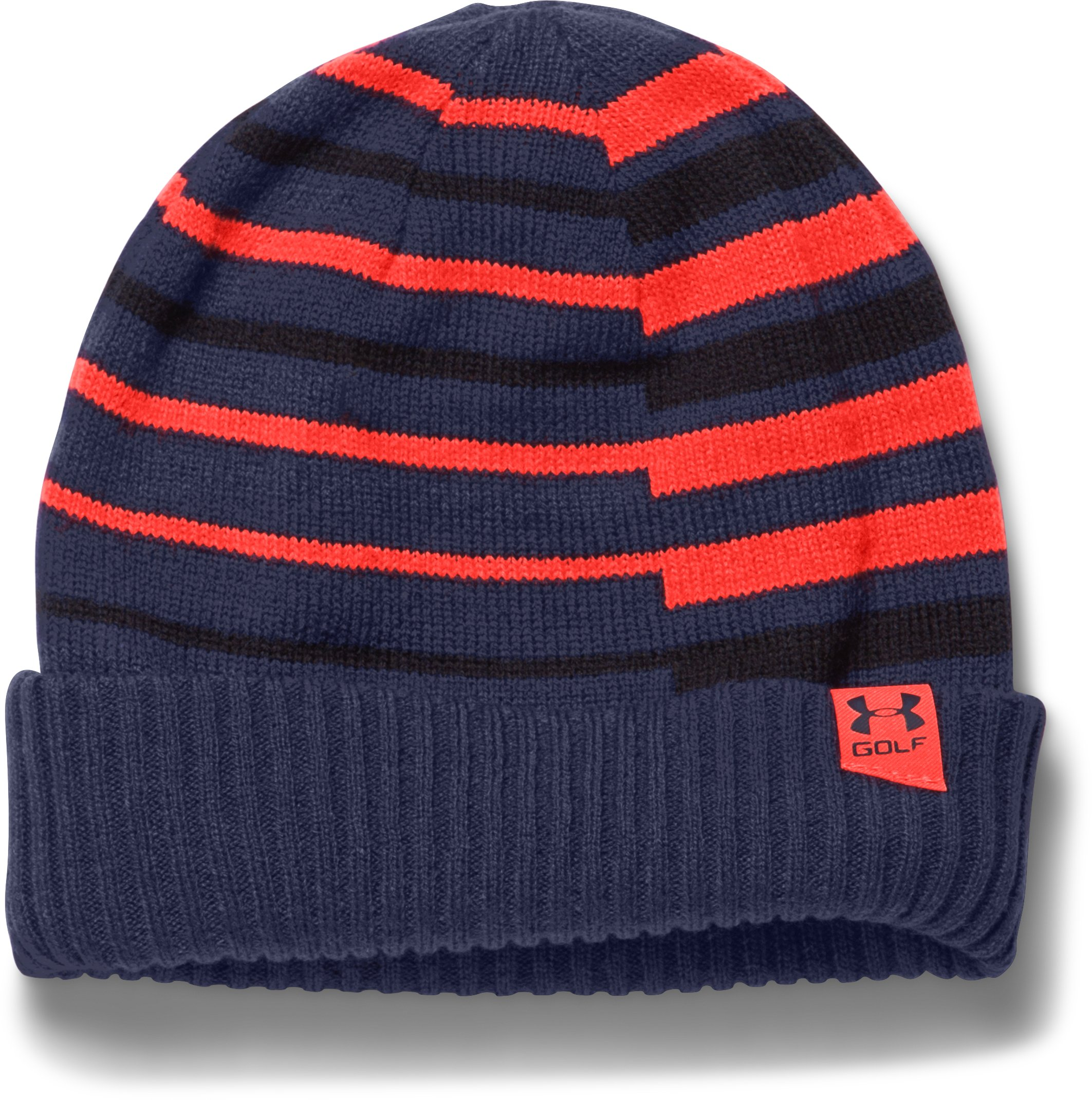Boys' UA Golf Stipe Beanie, BLUE KNIGHT, zoomed image