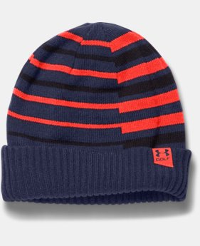 Boys' UA Golf Stipe Beanie  1 Color $10.49 to $12.74