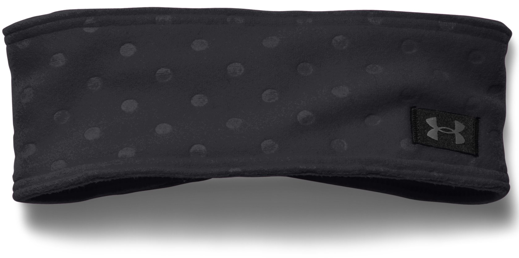 Girls' UA Cozy Fleece Headband, Black , zoomed image
