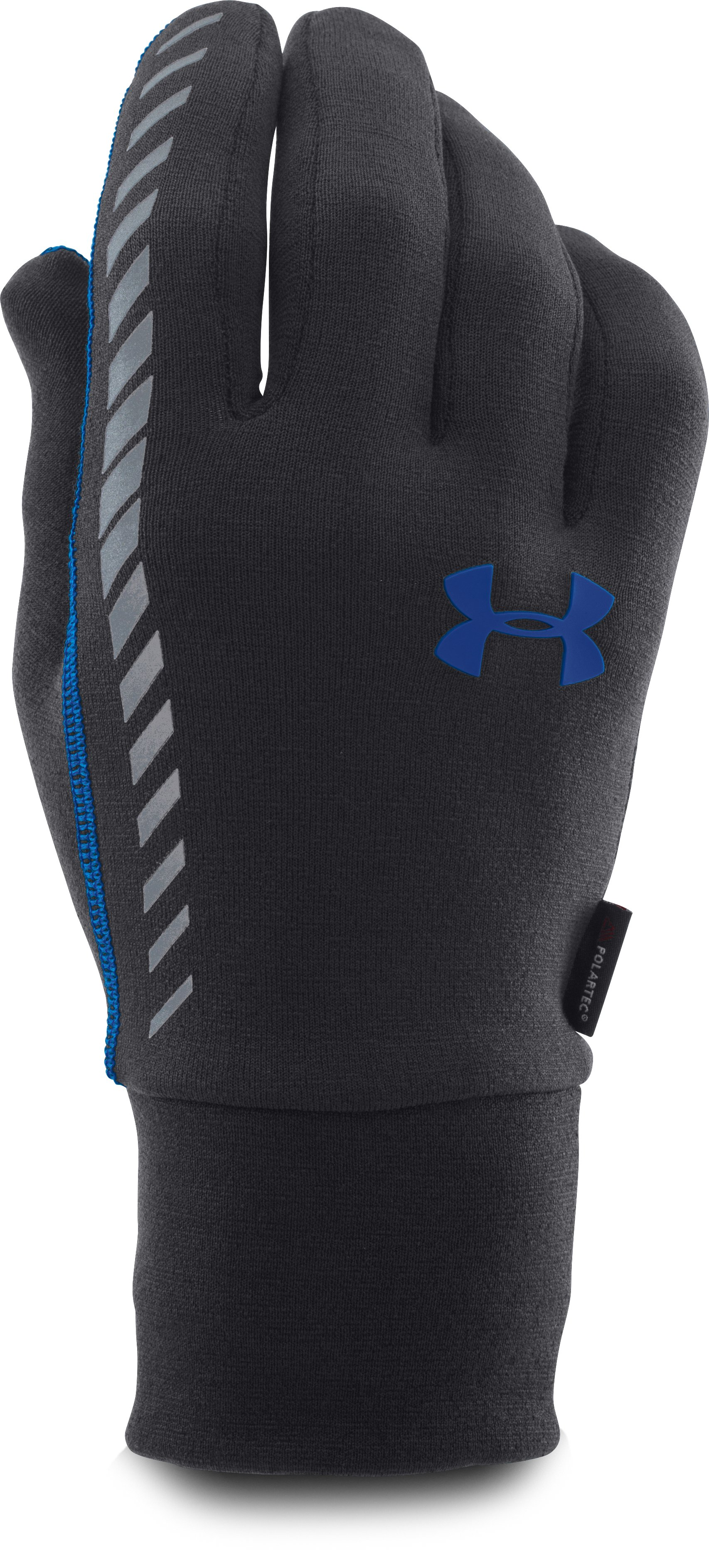 Men's UA Charged Wool Run Gloves, Black ,