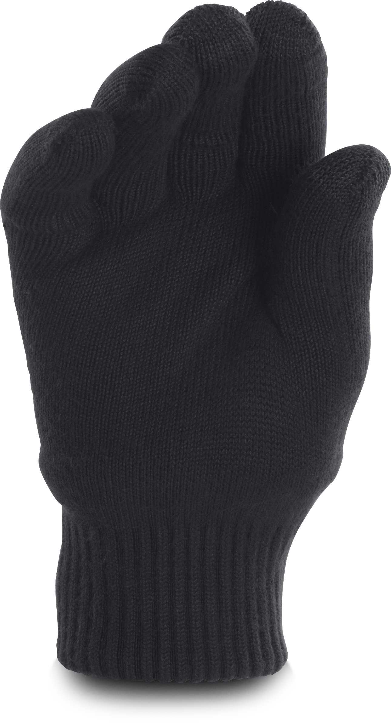 Men's UA Fuse Knit Gloves, Black