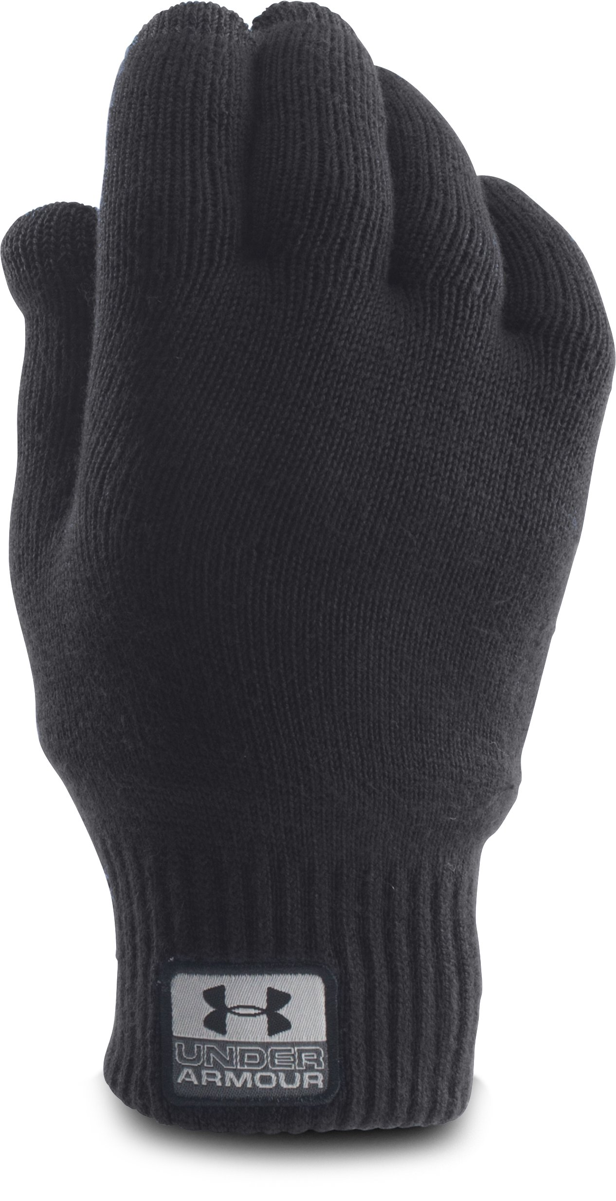Men's UA Fuse Knit Gloves, Black , undefined