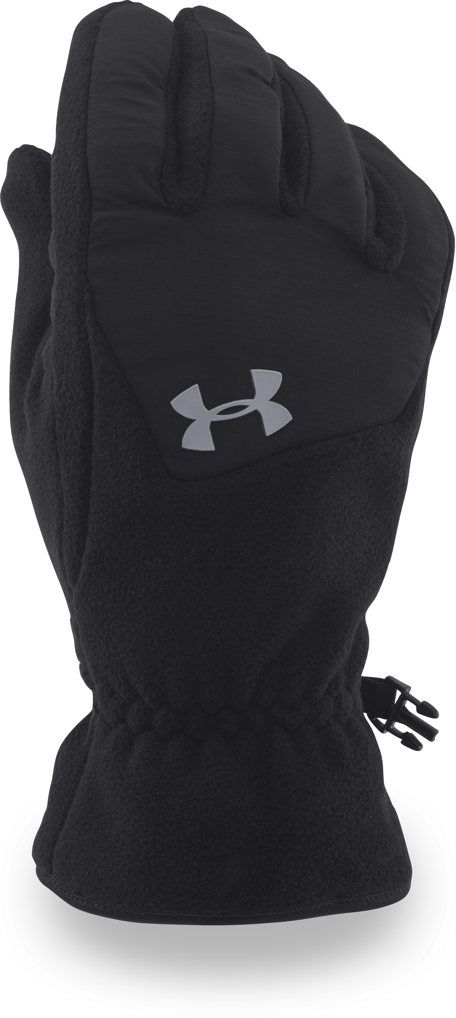 Men's UA ColdGear® Infrared Fleece Gloves, Black ,