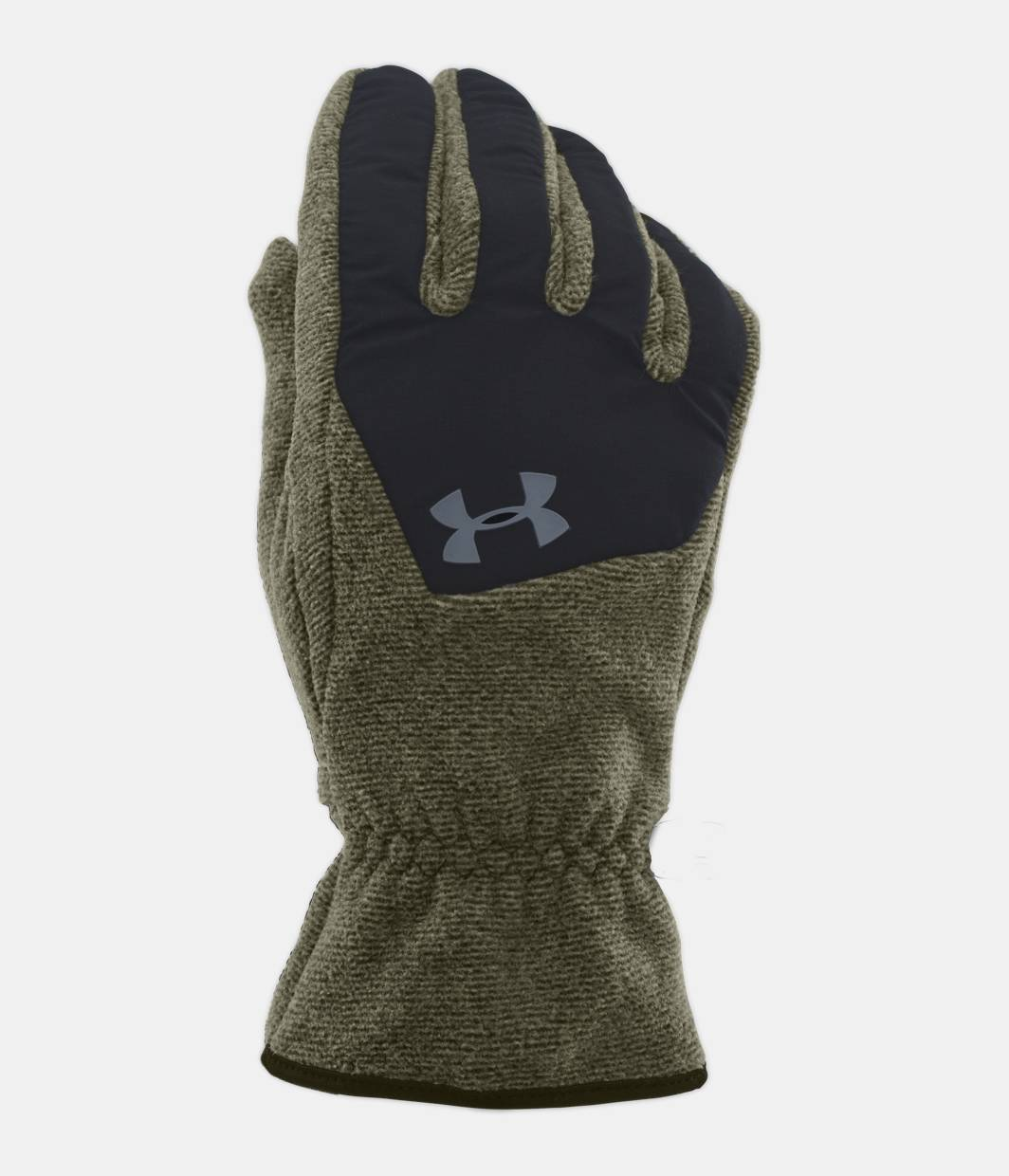 Mens fleece gloves xxl - Men S Ua Coldgear Infrared Fleece Gloves Greenhead Zoomed Image