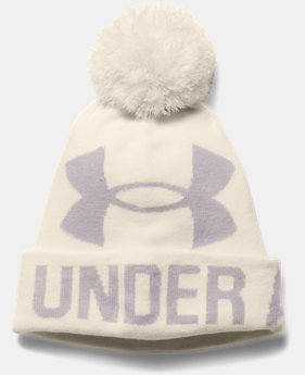 Women's UA Graphic Pom Pom Beanie LIMITED TIME: FREE U.S. SHIPPING 1 Color $24.99