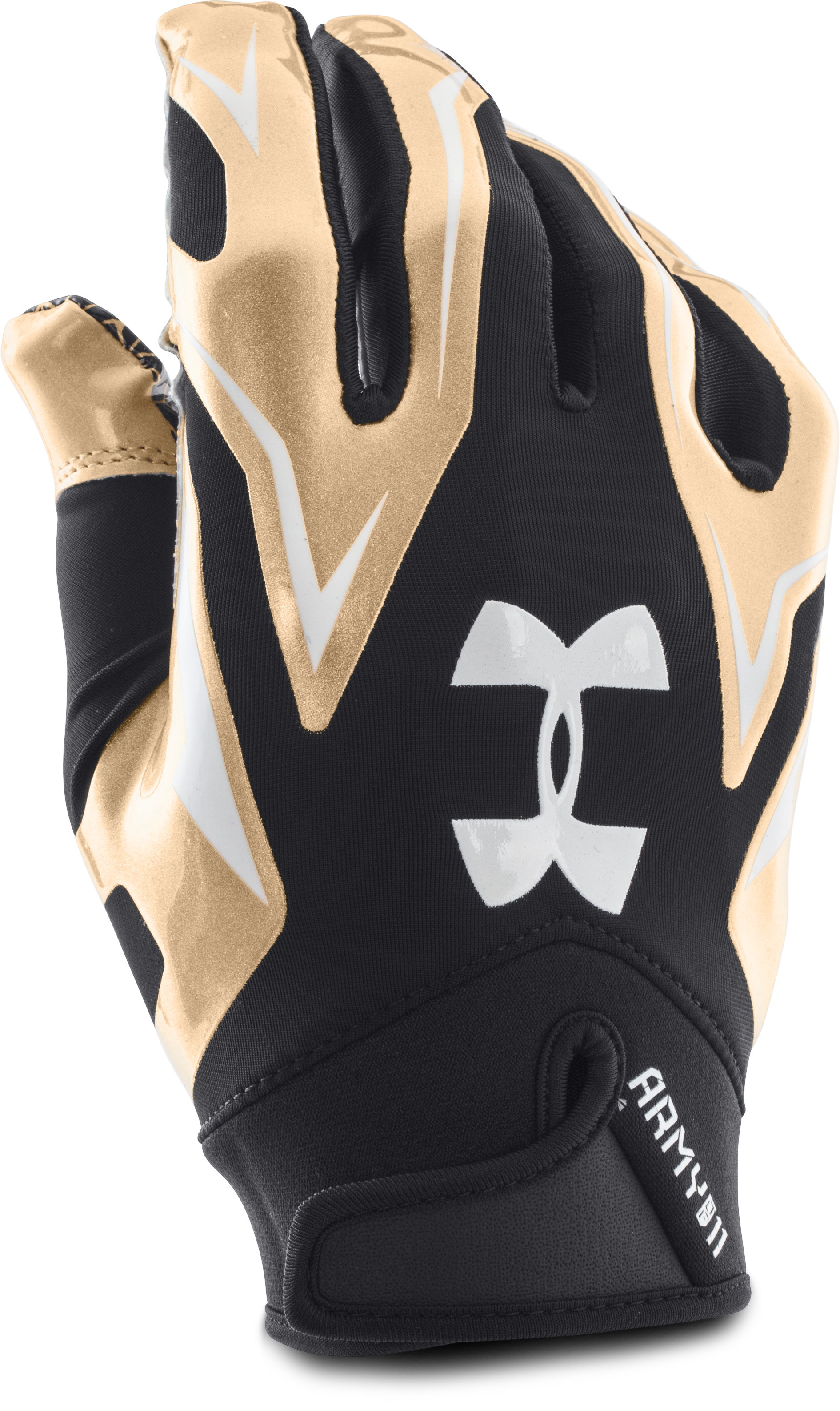 Men's UA Army of 11 F4 Football Gloves, Black