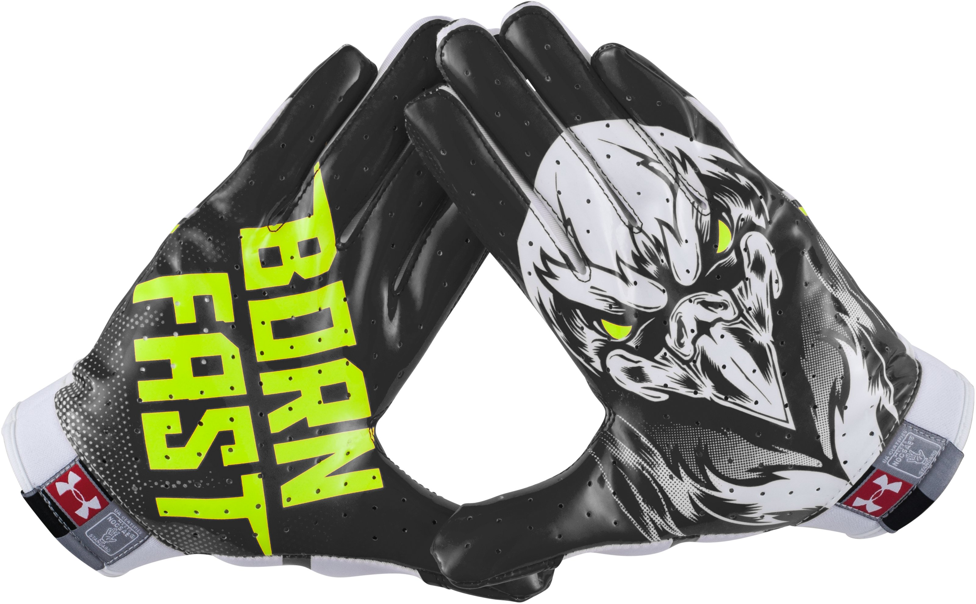 Men's Under Armour® Alter Ego Beast F4 Football Gloves, Black , zoomed image