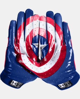 Men's Under Armour® Alter Ego Captain America F4 Football Gloves   $26.99