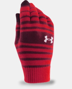 Boys' UA Chillz Stripe Gloves 3-Pack