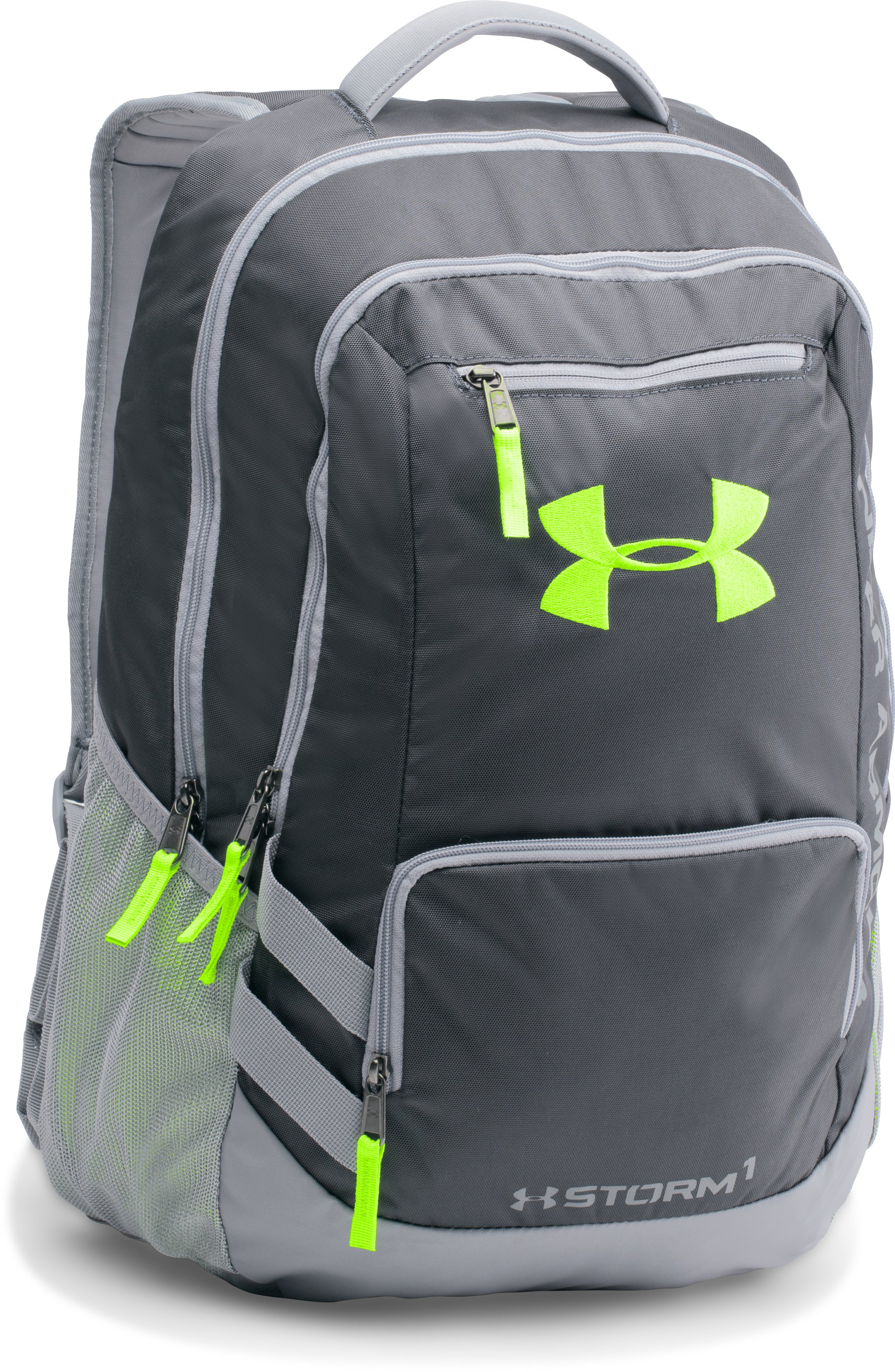 UA Storm Hustle II Backpack, STEALTH GRAY, zoomed image