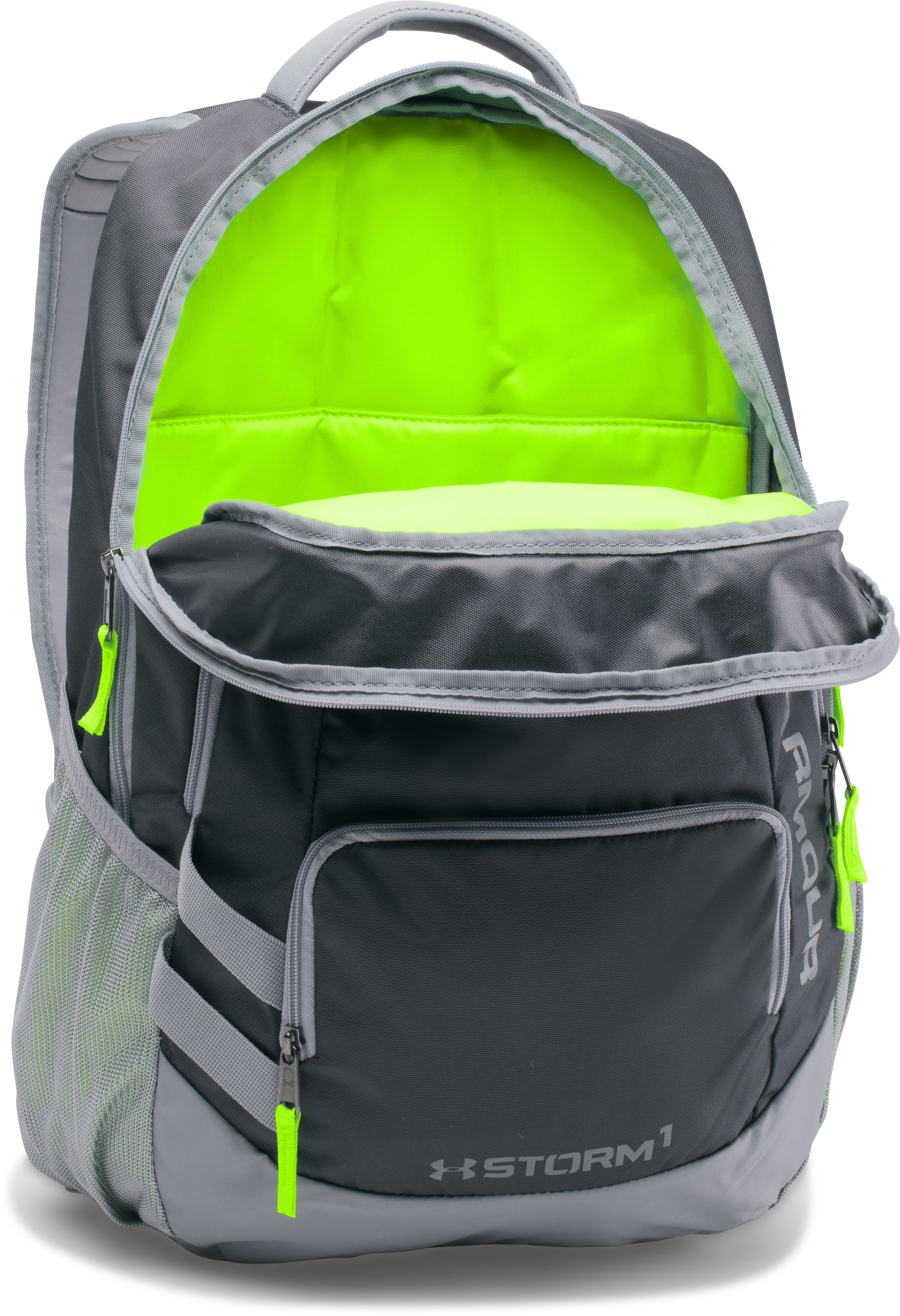 UA Storm Hustle II Backpack, STEALTH GRAY,