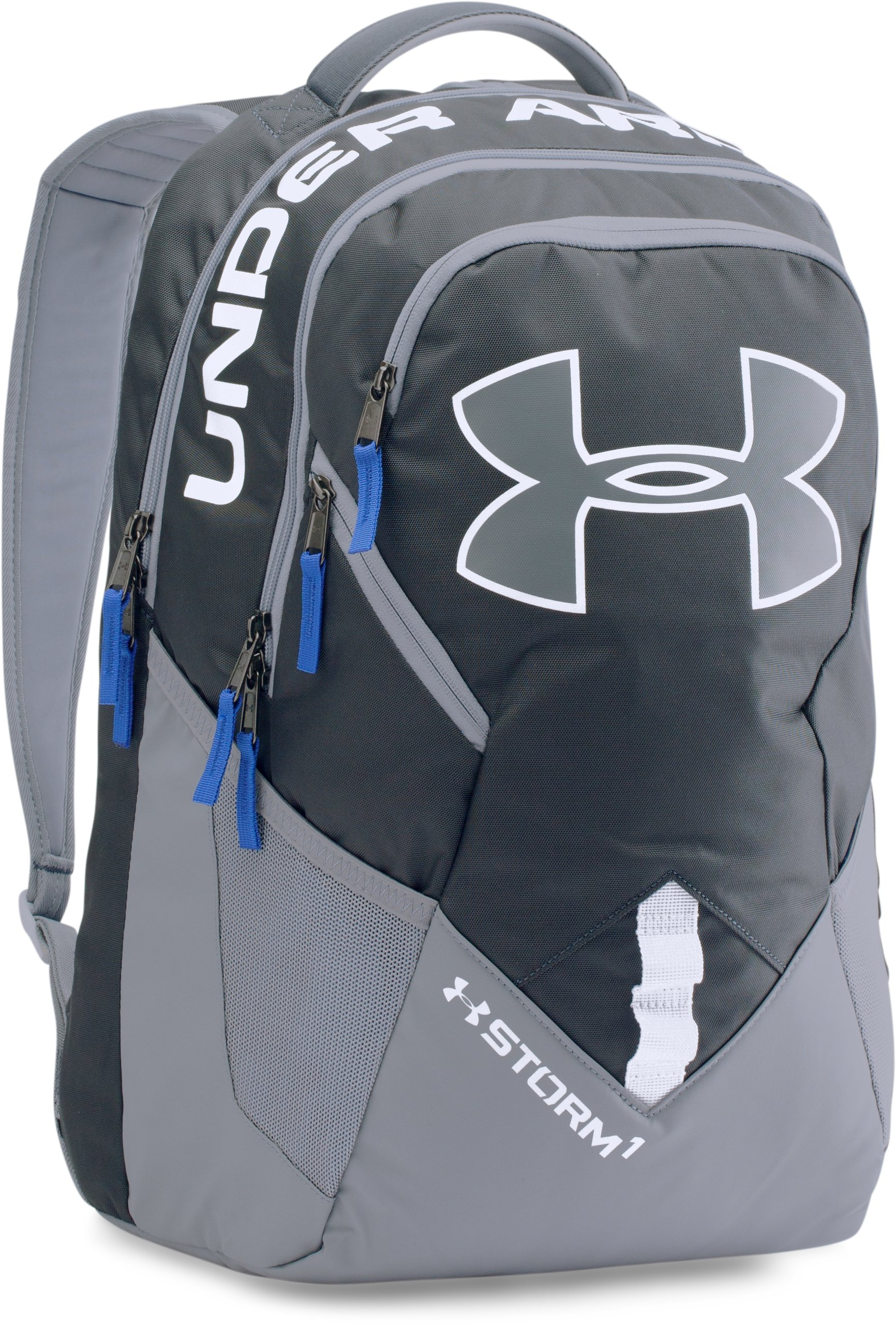 UA Storm Big Logo IV Backpack, STEALTH GRAY, zoomed image