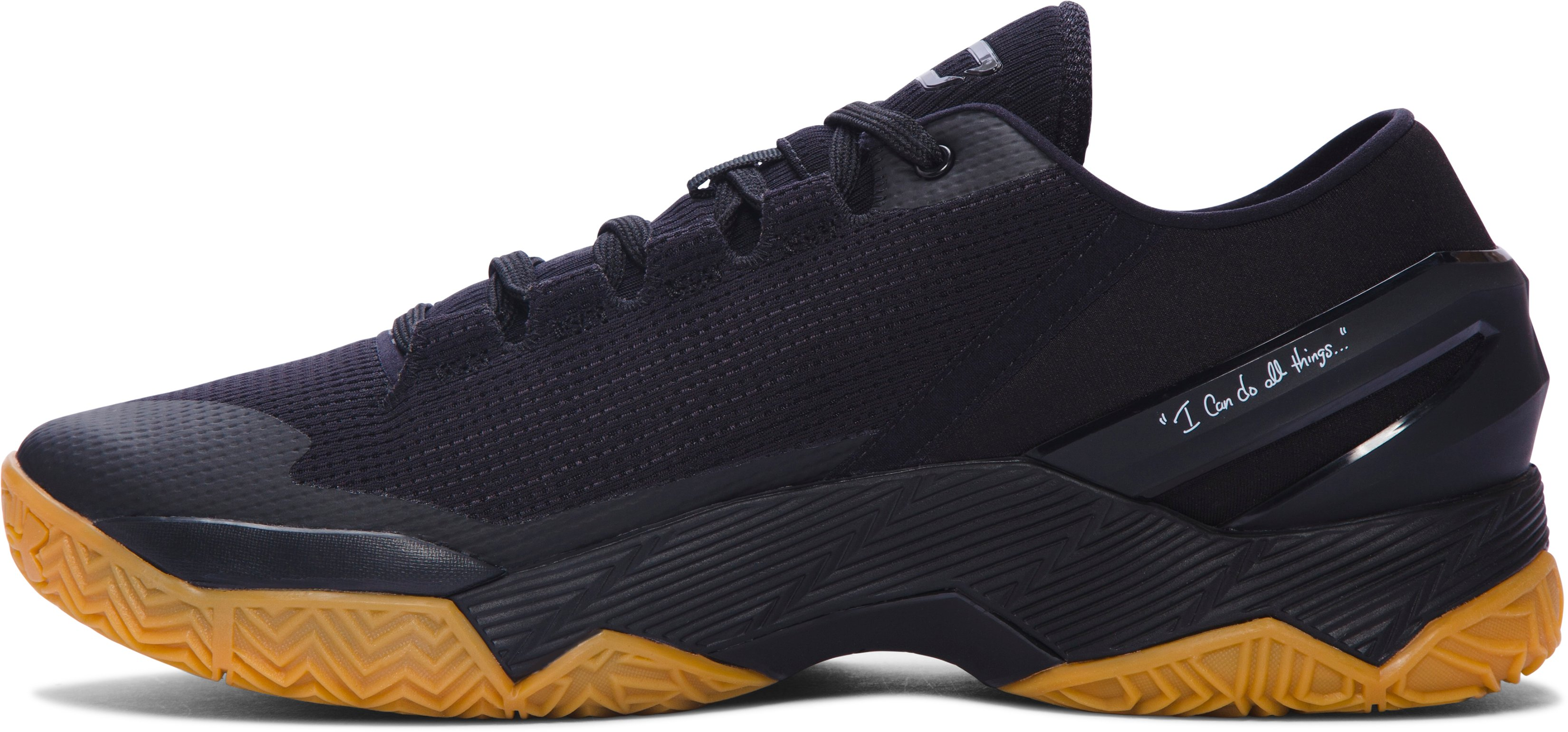Men's UA Curry Two Low Basketball Shoes, Black , undefined