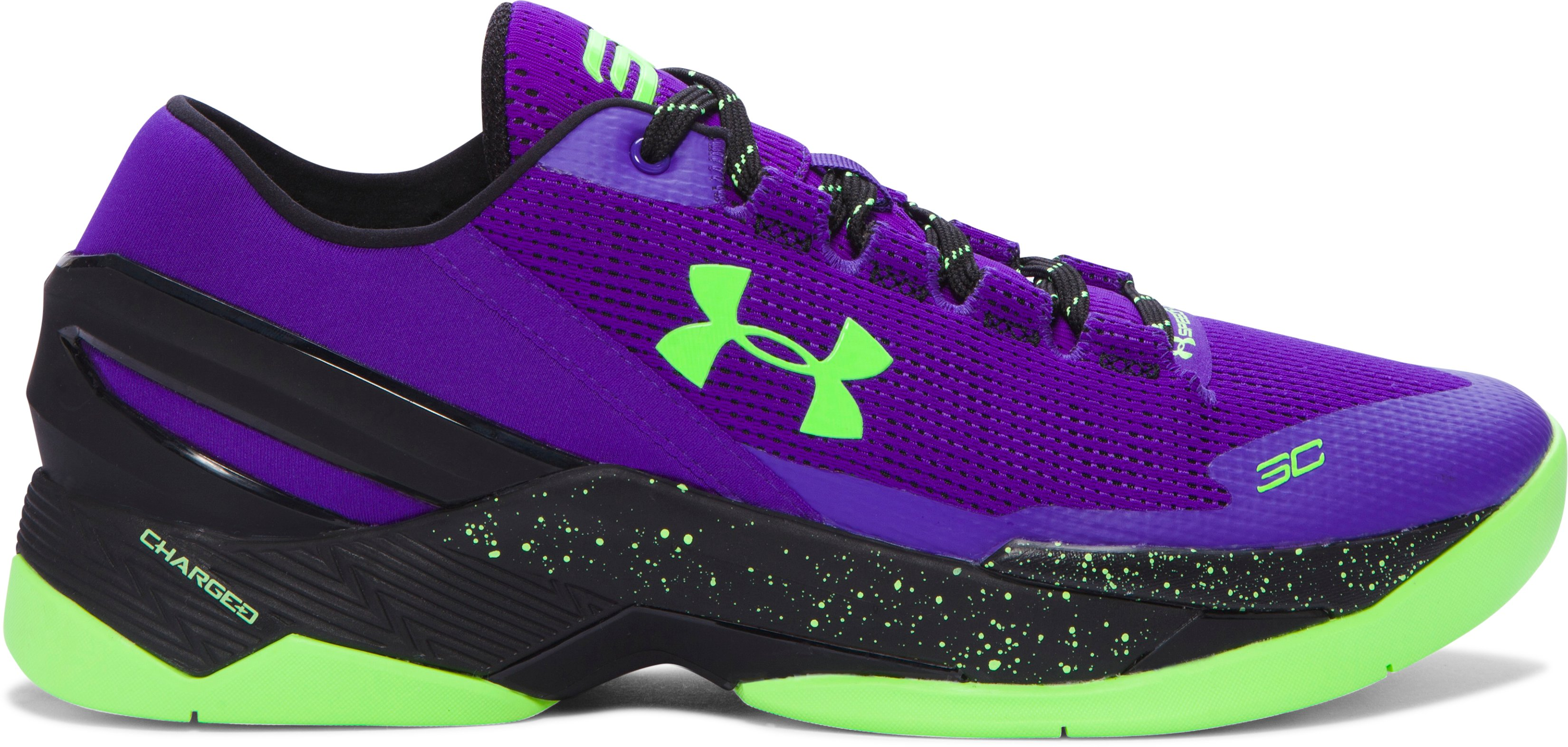 Men's UA Curry Two Low Basketball Shoes, PURPLE ZEST