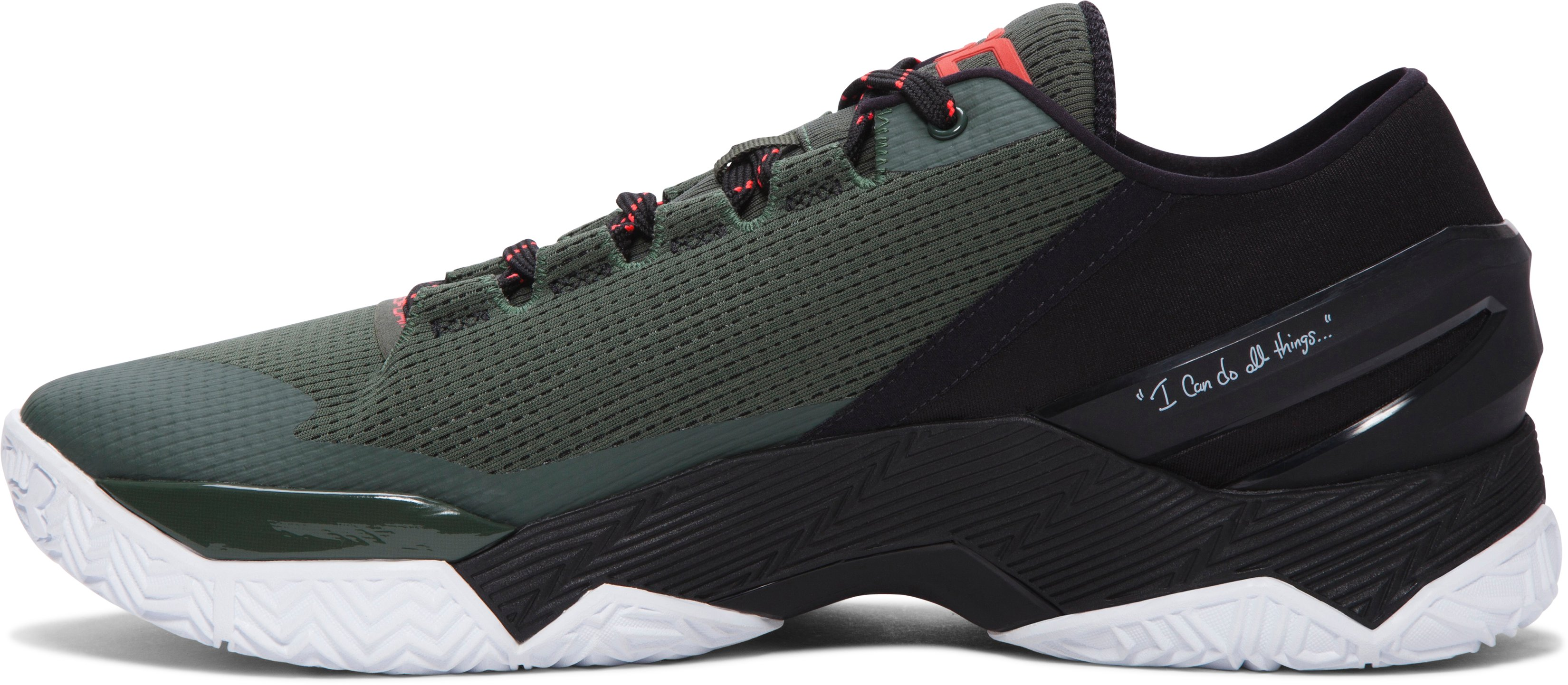 Men's UA Curry Two Low Basketball Shoes, COMBAT GREEN