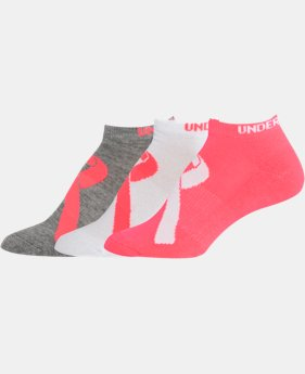 2-Pack Women's UA Power In Pink® No Show Socks 3 Pack  1 Color $13.99