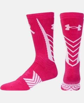 Men's UA Power In Pink® Undeniable Crew Socks