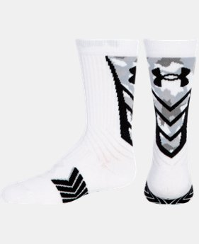Boys' UA Undeniable Camo Crew Socks