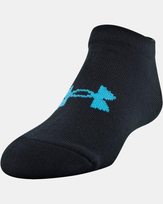 Girls' UA Big Logo No Show Socks 6-Pack, Black, pdpMainDesktop image number 5